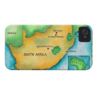 Mapa de Suráfrica Case-Mate iPhone 4 Cobertura