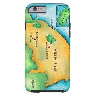 Mapa de Suráfrica Funda De iPhone 6 Tough