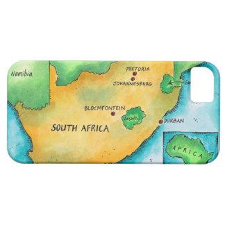 Mapa de Suráfrica iPhone 5 Carcasa