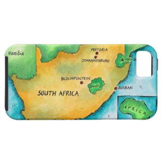 Mapa de Suráfrica iPhone 5 Carcasas