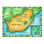 Mapa de Suráfrica Postal