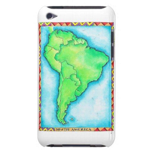 Mapa de Suramérica 2 Barely There iPod Fundas