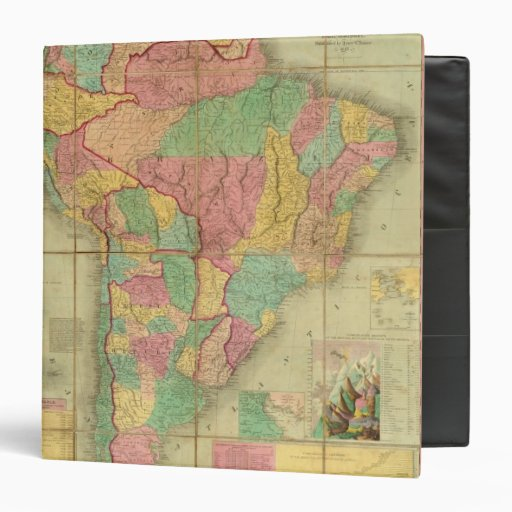 "Mapa de Suramérica 2 Carpeta 1 1/2"""