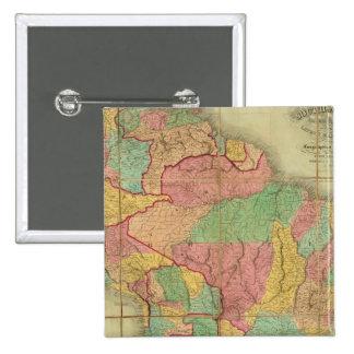 Mapa de Suramérica 2 Pin Cuadrado