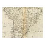 Mapa de Suramérica 2 Tarjeta Postal
