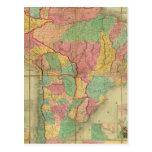 Mapa de Suramérica 2 Tarjetas Postales