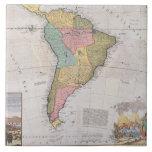 Mapa de Suramérica 3 Azulejo Cuadrado Grande