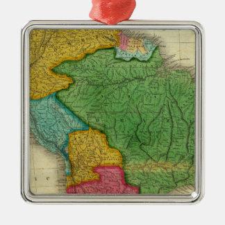 Mapa de Suramérica 3 Ornamento Para Arbol De Navidad