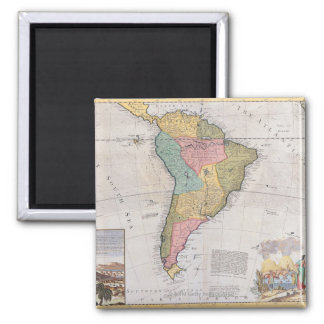Mapa de Suramérica 3 Imán Cuadrado