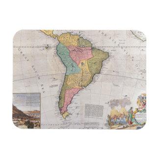 Mapa de Suramérica 3 Iman Rectangular