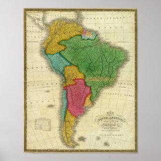 Mapa de Suramérica 3 Impresiones