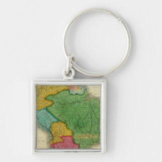 Mapa de Suramérica 3 Llaveros