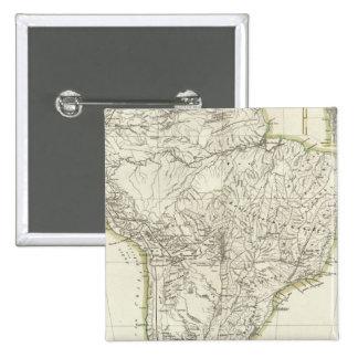 Mapa de Suramérica 3 Pin Cuadrada 5 Cm