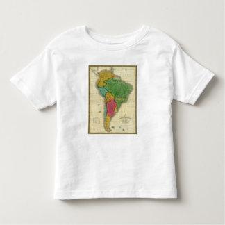 Mapa de Suramérica 3 Playera De Bebé