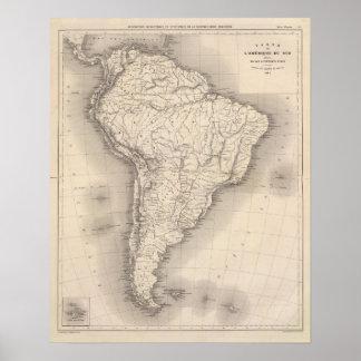 Mapa de Suramérica 3 Posters