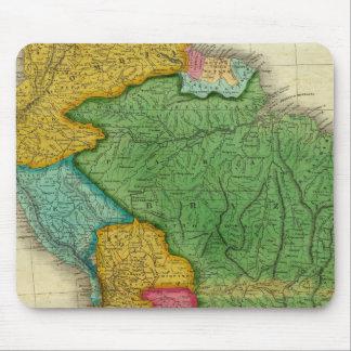 Mapa de Suramérica 3 Tapetes De Ratón