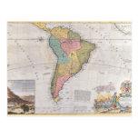 Mapa de Suramérica 3 Tarjetas Postales
