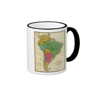 Mapa de Suramérica 3 Tazas De Café