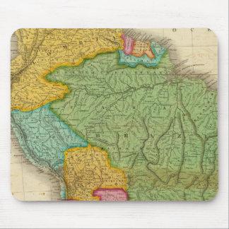 Mapa de Suramérica 4 Alfombrilla De Ratones