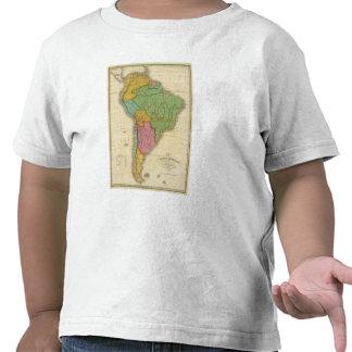 Mapa de Suramérica 4 Camisetas