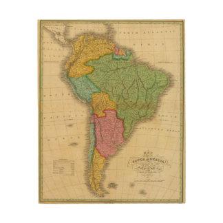 Mapa de Suramérica 4 Cuadro De Madera