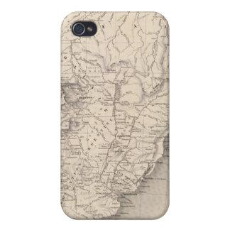 Mapa de Suramérica 4 iPhone 4 Cárcasa