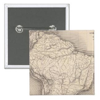 Mapa de Suramérica 4 Pin