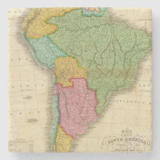 Mapa de Suramérica 4 Posavasos De Piedra