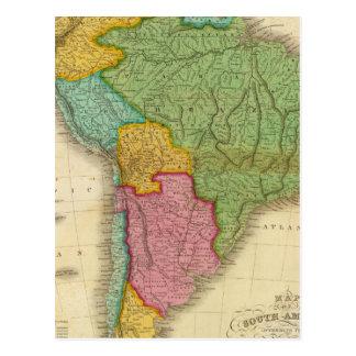 Mapa de Suramérica 4 Postal