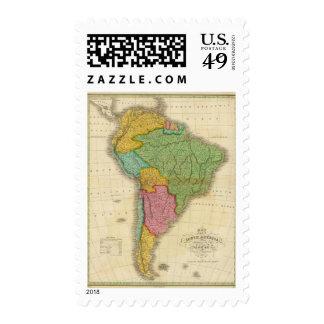 Mapa de Suramérica 4 Sello