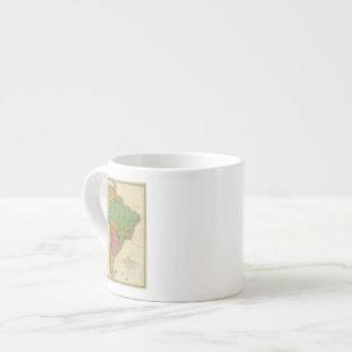Mapa de Suramérica 4 Taza Espresso