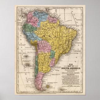 Mapa de Suramérica 5 Póster
