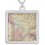 Mapa de Suramérica de Mitchell Colgante Cuadrado