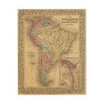 Mapa de Suramérica de Mitchell Cuadros De Madera