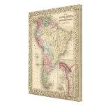 Mapa de Suramérica de Mitchell Lona Estirada Galerias