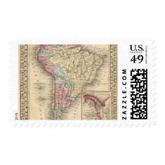 Mapa de Suramérica de Mitchell Sellos