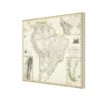 Mapa de Suramérica Impresiones En Lona Estiradas