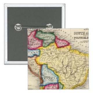 Mapa de Suramérica Pin Cuadrada 5 Cm