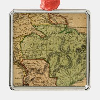 Mapa de Suramérica por Worcester Adorno Navideño Cuadrado De Metal
