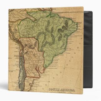 """Mapa de Suramérica por Worcester Carpeta 1 1/2"""""""