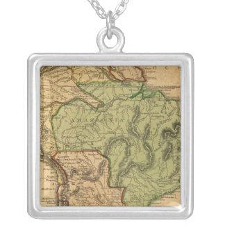 Mapa de Suramérica por Worcester Colgante Cuadrado