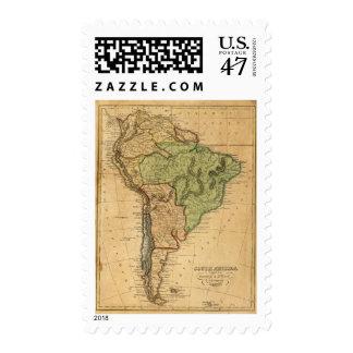 Mapa de Suramérica por Worcester Estampillas