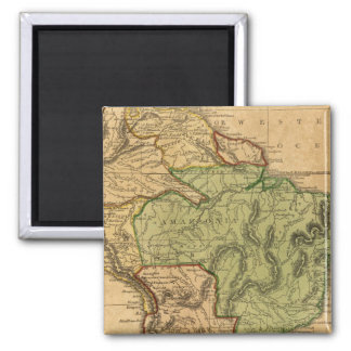 Mapa de Suramérica por Worcester Imán Cuadrado