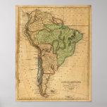 Mapa de Suramérica por Worcester Impresiones