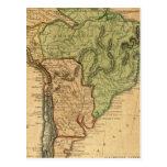 Mapa de Suramérica por Worcester Tarjetas Postales