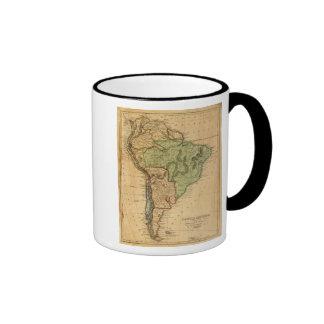 Mapa de Suramérica por Worcester Tazas
