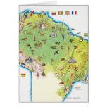Mapa de Suramérica septentrional Felicitación