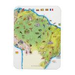 Mapa de Suramérica septentrional Imán