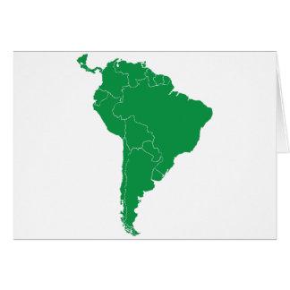 Mapa de Suramérica Tarjeta De Felicitación
