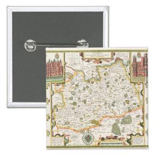 Mapa de Surrey grabado por Jodocus Hondius Pin